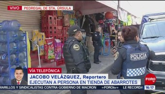 Foto: Ejecutan a hombre en tienda de abarrotes al sur de la CDMX