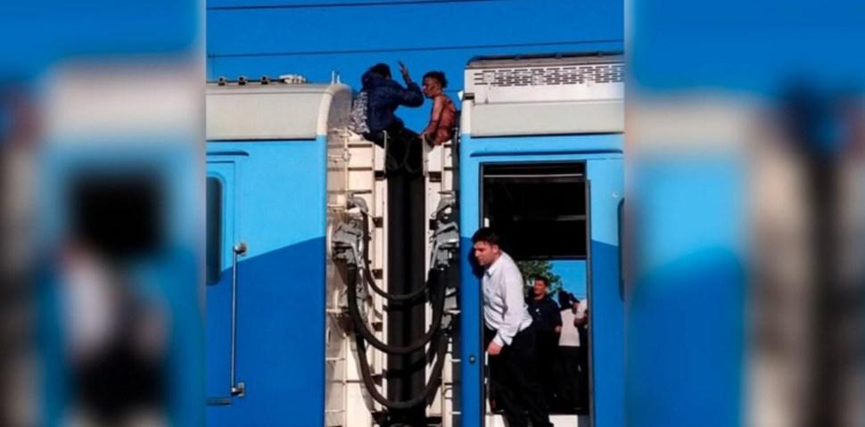foto electrocutado tren argentina