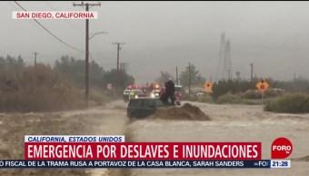 Foto: Emergencia Deslaves Inundaciones California 15 de Febrero 2019