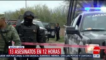 Foto: 12 Horas Suman 13 Asesinatos Nuevo León 19 Febrero 2019