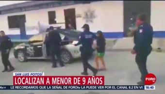 Foto: Encuentran a niña desaparecida en San Luis Potosí
