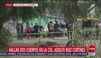 Foto: Encuentran dos cuerpos sin vida en Ecatepec, Estado de México