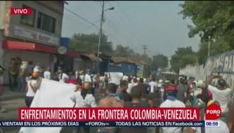 FOTO: Enfrentamiento en la frontera Colombia-Venezuela, 23 febrero 2019