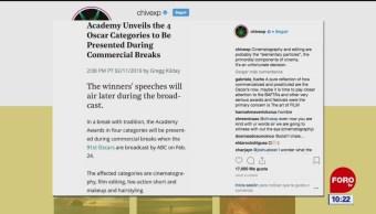 #EspectáculosenExpreso: Cineastas reaccionan ante decisión de la Academia de Artes y Ciencias Cinematográficas