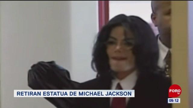 Retiran estatua de Michael Jackson en Dinamarca