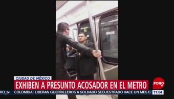 Exhiben a presunto acosador en el Metro CDMX
