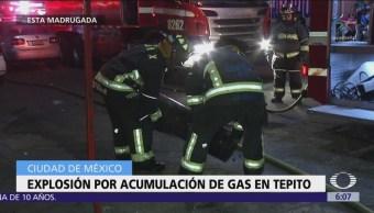 Explosión por acumulación de gas en Tepito, CDMX
