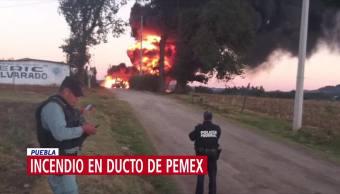 Explota en ducto en Huachinango, Puebla