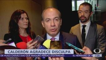 Felipe Calderón agradece disculpa de AMLO