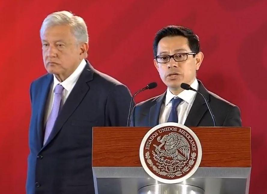 Foto: Alberto Velázquez , conferencia López Obrador, el 15 de febrero 2019