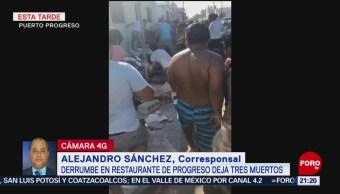 FOTO: Fiscalía de Yucatán investiga derrumbe en restaurante, 17 febrero 2019