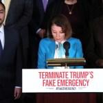 Foto: Nancy Pelosi presenta plan para revocar la emergencia nacional decretada por el presidente de Estados Unidos, Donald Trump