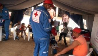Foto: Cruz Roja Internacional asiste a migrantes venezolanos a la frontera con Colombia el 4 de septiembre de 2018