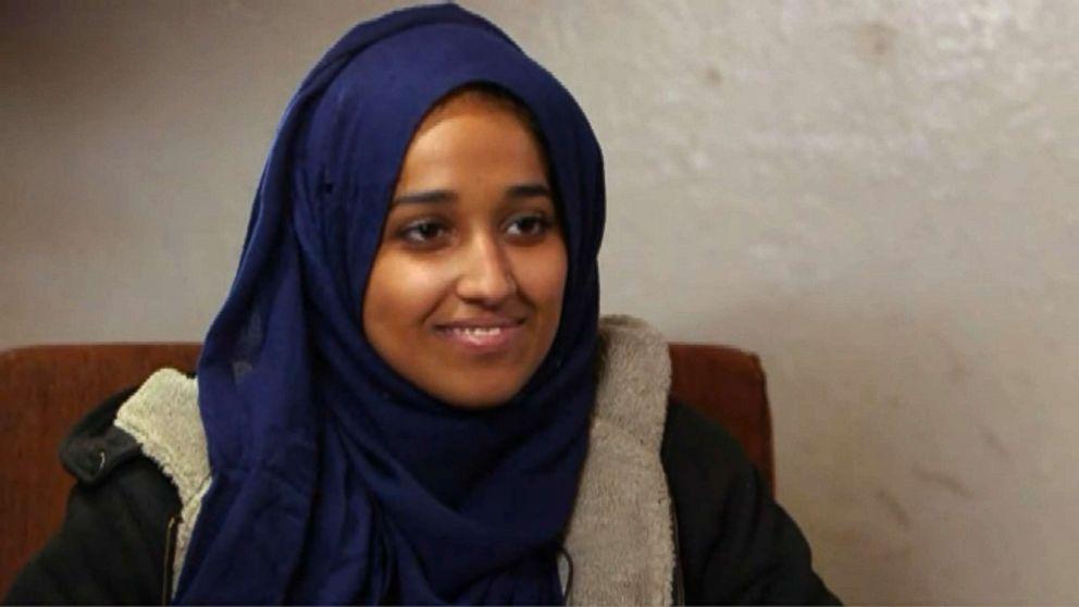 Foto: Hoda Muthana durante una entrevista para ABC News