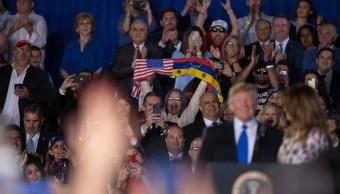 Foto: El presidente de Estados Unidos, Donald Trump, se reúne con la comunidad venezolana en Florida el 18 de febrero de 2019