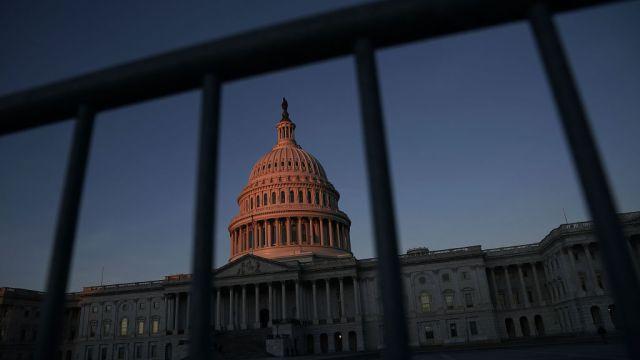 Foto: Imagen panorámica del Congreso de Estados Unidos en Washington D.C. del 20 de enero del 2018