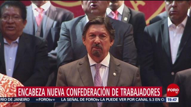 Foto: Napoleón Gómez Urrutia Rinde Protesta Líder Sindical 13 Febrero 2019