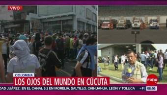 FOTO: Gran tensión en la frontera de Venezuela y Colombia, 23 febrero 2019