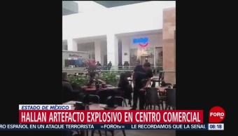 FOTO: Hallan artefacto explosivo en centro comercial en Edomex, 16 febrero 2019