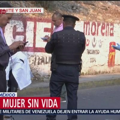 Hallan mujer sin vida en calles de la GAM, CDMX