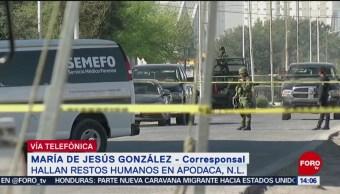 Foto: Hallan restos humanos en Apodaca, Nuevo León