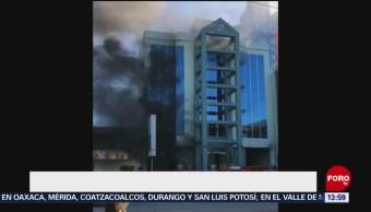 Foto: Hombre se lanza de un quinto piso por incendio en Tijuana