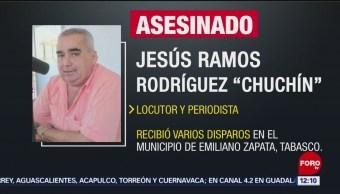 Hombres armados asesinan a un periodista en Tabasco