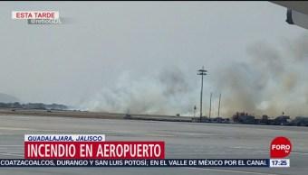 Foto: Incendio amenaza aeropuerto de Guadalajara