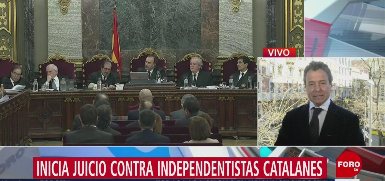 Inicia juicio contra independentistas catalanes