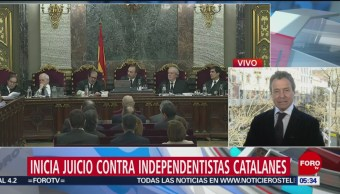 Inicia juicio contra independentistas catalanes