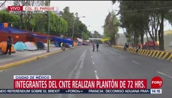 Foto: Integrantes de la CNTE cierran el paso en Congreso de la Unión