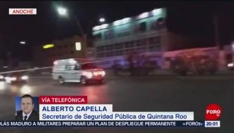 FOTO: Investigan ataque a bar de Cancún que dejó 5 muertos, 16 febrero 2019