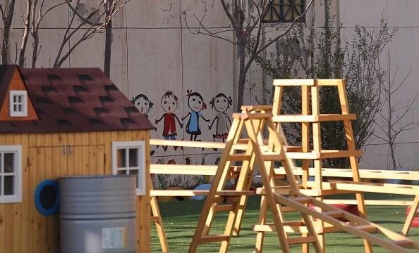 Foto: Vista del patio de una escuela, 10 febrero 2019.