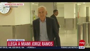 Foto: Jorge Ramos y su equipo llegan a Florida, EU