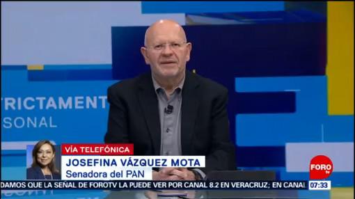Josefina Vázquez Mota defiende programa de estancias infantiles, rechaza confrontación
