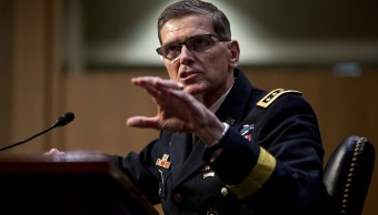 fOTO: El general Joseph Votel, jefe del Mando Central de las Fuerzas Armadas de Estados Unidos, 15 febrero 2019