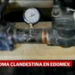 Foto: Toma Clandestina Combustible Ecatepec 14 de Febrero 2019