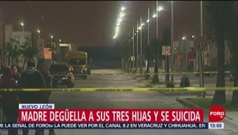 Madre asesina a hijas y se suicida en Nuevo León