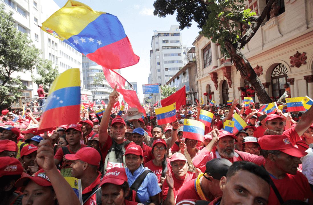 Foto: Manifestación a favor de Nicolás Maduro, febrero 2019, Caracas, Venezuela