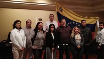FOTO María Faría, representante diplomática designada por Juan Guaidó, toma posesión de la embajada en Costa Rica (Twitter 19 febrero 2019 san josé))