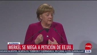 FOTO: Merkel rechaza llamado de EU sobre acuerdo nuclear con Irán, 16 febrero 2019