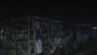 Foto: Incendio Mexibus, el 22 de febrero 2019