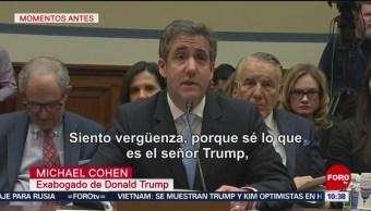 Michael Cohen dice que Trump lo llamó 'rata'