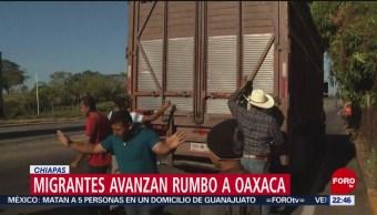 FOTO: Migrantes avanzan rumbo a Oaxaca, 10 febrero 2019