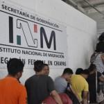 Foto: Migrantes en Chiapas, 28 de enero de 2019. Twitter @INAMI_mx
