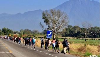 Foto: Migrantes centroamericanos llegan a Tapanatepec, Oaxaca, 21 enero 2019. Twitter @Notimex