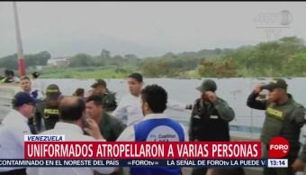 FOTO: Militares venezolanos atropellan a varias personas en Venezuela, 23 febrero 2019