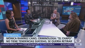 "Foto: Mónica Ramírez, criminóloga que entrevistó a ""El Chapo"", en Despierta"