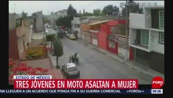 Motociclistas asaltan a joven en Naucalpan