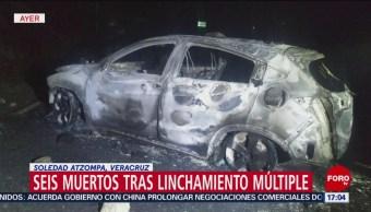 Foto: Mueren seis hombres por linchamiento en Veracruz